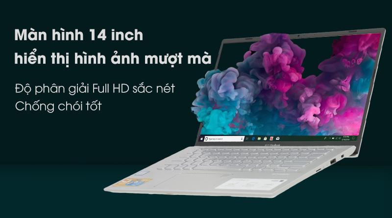 Laptop Asus Vivobook A412F i3 8145U hiển thị hình ảnh bắt mắt