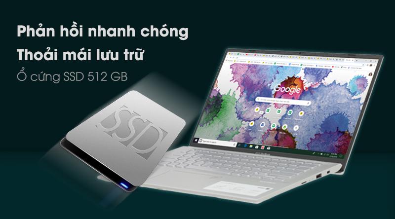 Laptop Asus Vivobook A412F i3 8145U khởi động cực nhanh