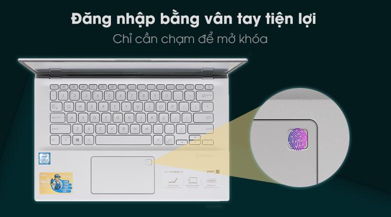Laptop Asus Vivobook A412F i3 8145U độ bảo mật cao