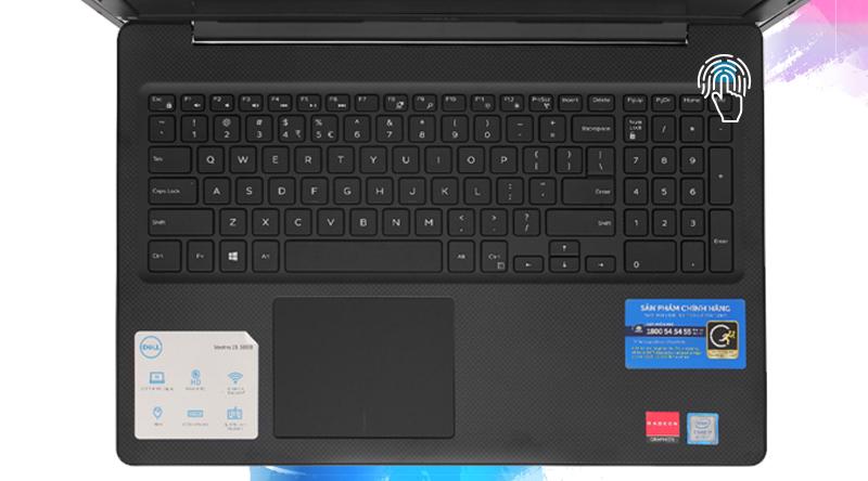 Dell Vostro 3580 đăng nhập nhanh chóng bằng vân tay