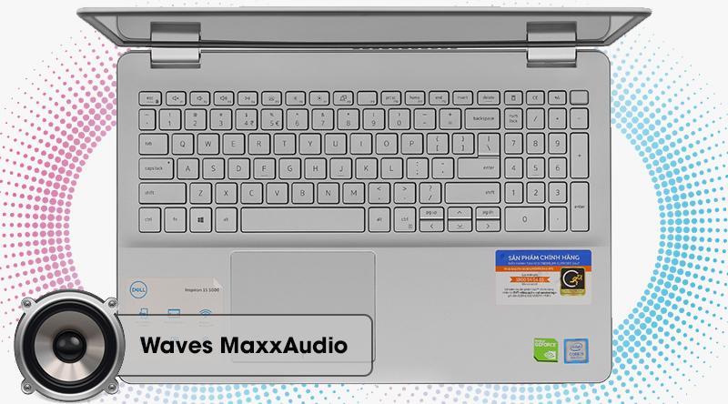 Laptop Dell Inspiron 5584 đem đến trải nghiệm âm thanh to rõ, sống động