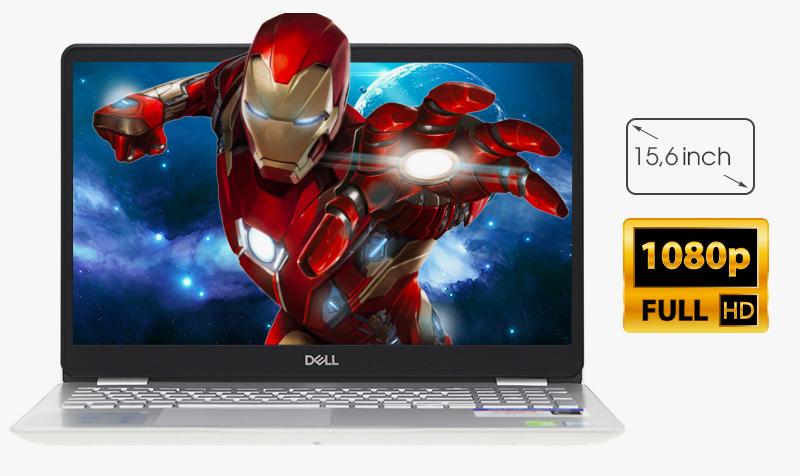 Laptop Dell Inspiron 5584  trang bị màn hình IPS 15.6 inch với độ phân giải Full HD