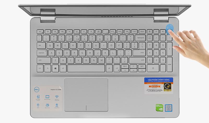 Laptop Dell Inspiron 5584 chạm nhẹ không cần nhập mật khẩu