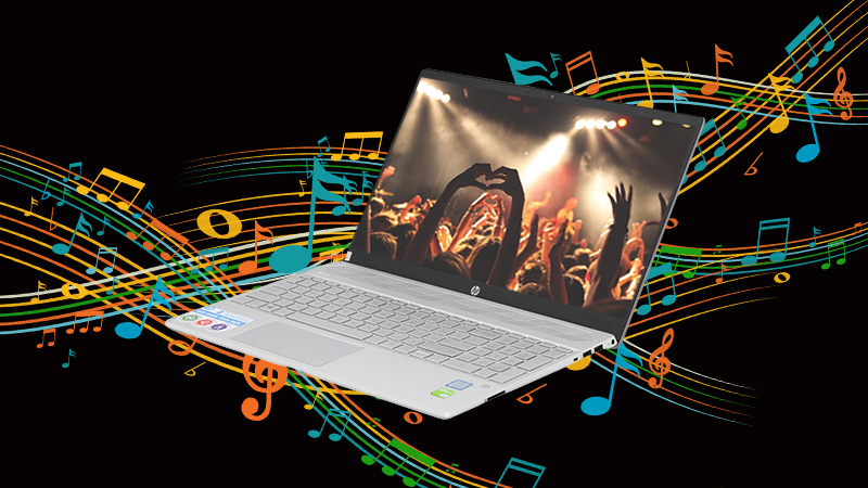 Laptop HP Pavilion 15 cs2057TX có âm thanh trung thực, sống động