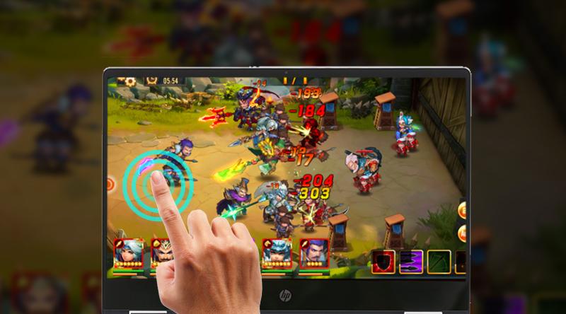 HP Pavilion x360 dh0103TU có hỗ trợ cảm ứng màn hình