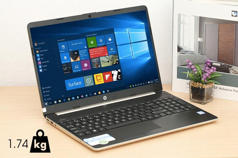 Laptop HP 15s du0063TU (6ZF63PA) có khối lượng 1.74 kg