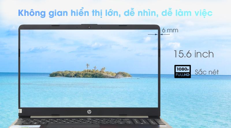 Laptop HP 15s du0063TU màn hình rộng 15.6 inch cùng độ phân giải Full HD