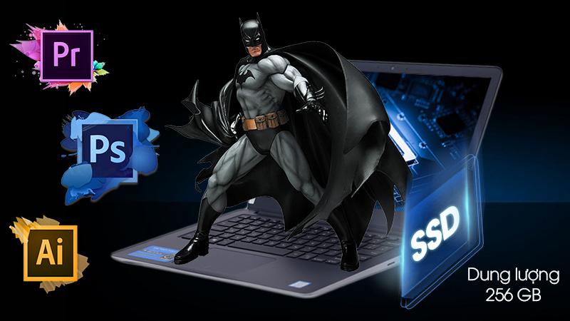 Laptop Dell Vostro 13 5370 có sẵn ổ cứng SSD dung lượng 256 GB