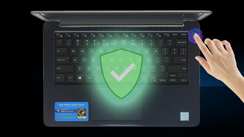 Laptop Dell Vostro 13 5370 có thể đăng nhập thật nhanh chóng và dễ dàng