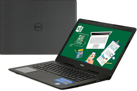 Laptop Dell Vostro 14 3481 i3 7020U/4GB/1TB/Win10 (70187645)