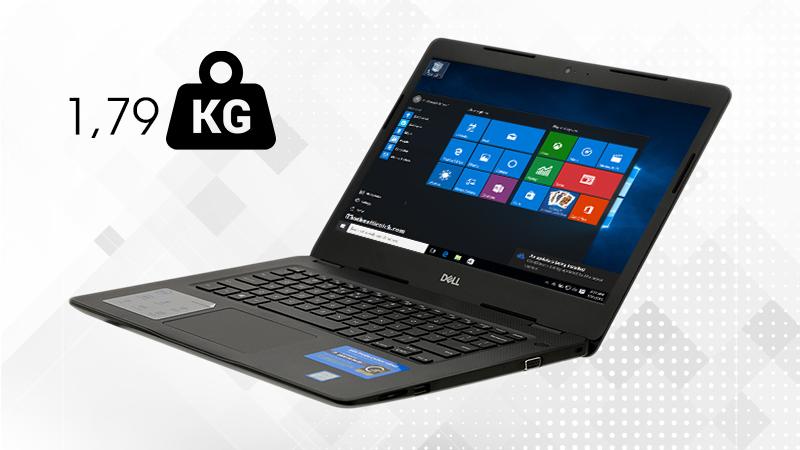 Laptop Dell Vostro 3480 i5 khá nhẹ với khối lượng 1.79 kg