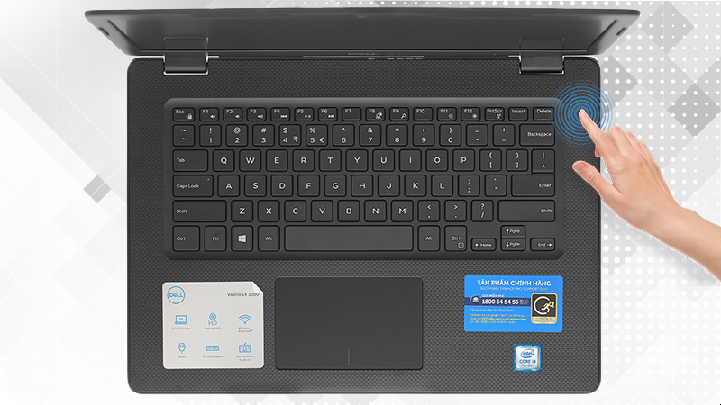 Laptop Dell Vostro 3480 i5 không cần ghi nhớ và nhập chuỗi mật khẩu từ bàn phím để mở khóa