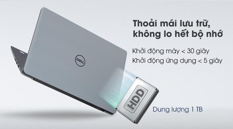 Dell Vostro 5581 còn trang bị cho máy ổ cứng HDD 1TB