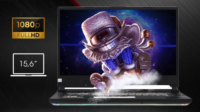 Laptop ASUS ROG Strix G sở hữu màn hình Full HD tần số lên đến 120 Hz