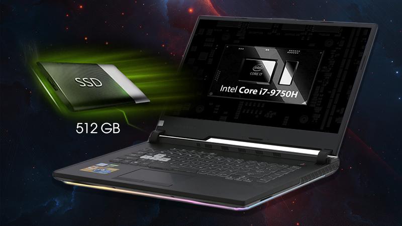 Laptop ASUS ROG Strix G  sở hữu con Chip Intel Core i7 thế hệ thứ 9 dòng H mạnh mẽ