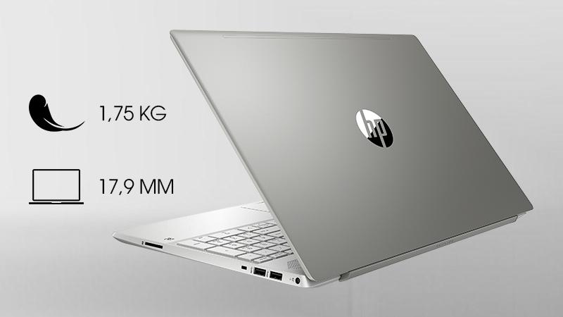 Laptop HP Pavilion 15 cs2031TU độ dày 17.9 mm và trọng lượng 1.75 kg