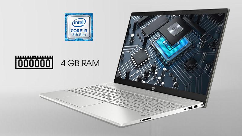 Laptop HP Pavilion 15 cs2031TU được trang bị bộ vi xử lý Intel Core i3 8145U thế hệ thứ tám