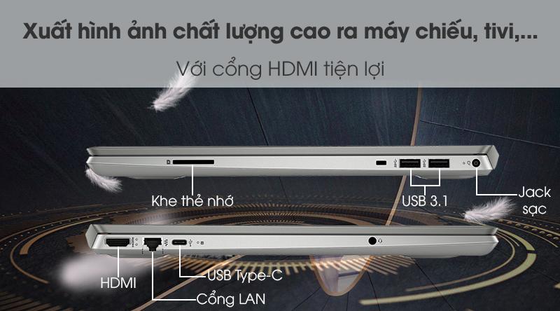 Laptop HP Palivion 15 cs2033TU i5 8265U (6YZ14PA) - Cổng kết nối