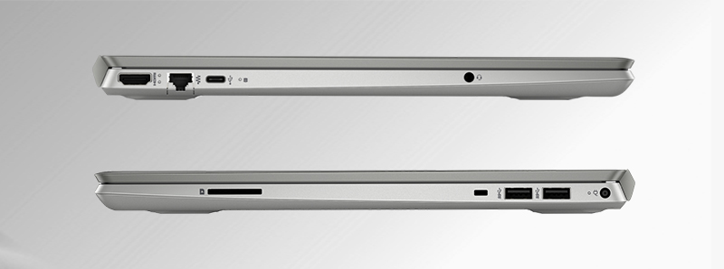 Laptop HP Pavilion 15 cs2056TX được trang bị đầy đủ các cổng kết nối hiện đại