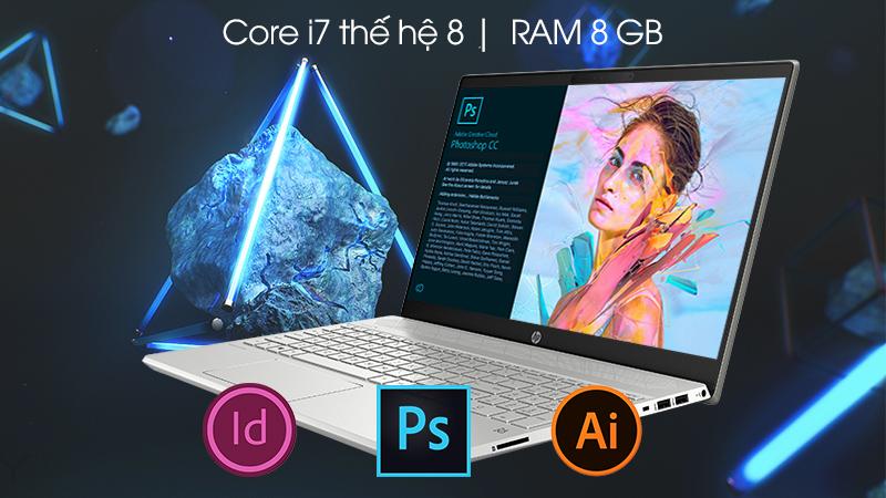 Laptop HP Pavilion 15-cs2058TX xử lý gọn gàng mọi tác vụ