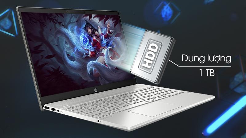 Laptop HP Pavilion 15-cs2058TX sử dụng ổ cứng HDD dung lượng lên đến 1 TB