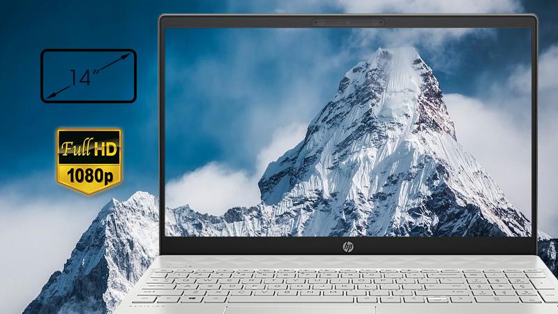 Laptop HP Pavilion 15-cs2058TX trang bị màn hình 15.6 inch Full HD