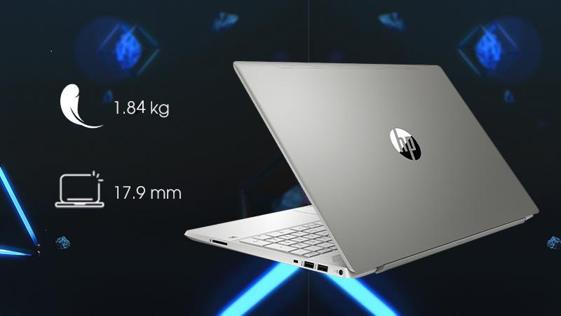 Laptop HP Pavilion 15-cs2058TX có kích thước nhỏ gọn siêu di động