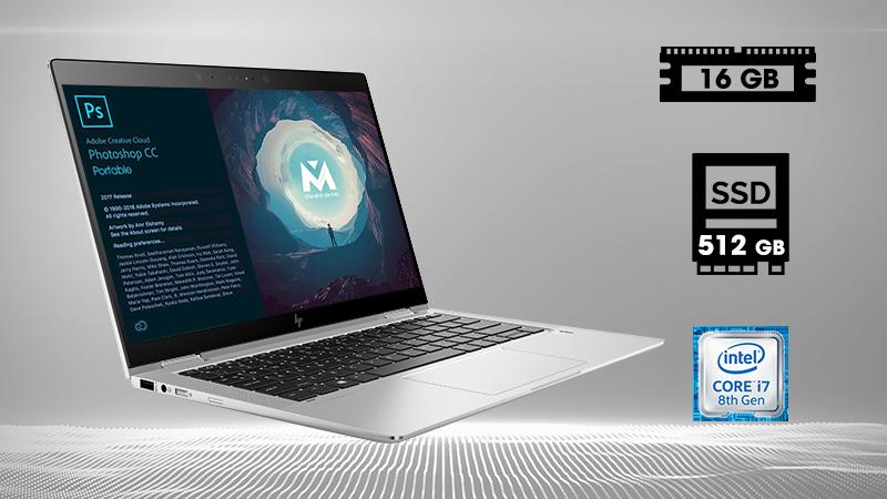 Laptop HP Elitebook X360 1030 G3 5AS42PA  trang bị chip Intel Core i7 thế hệ thứ 8, Ram 16 GB