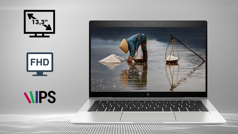Laptop HP Elitebook X360 1030 G3 5AS42PA  với độ phân giải Full HD và tấm nền IPS cho góc nhìn rộng với độ phân giải Full HD và tấm nền IPS cho góc nhìn rộng