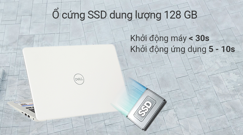 Laptop Dell Inspiron 5370 cho tốc độ khởi động máy nhanh chóng