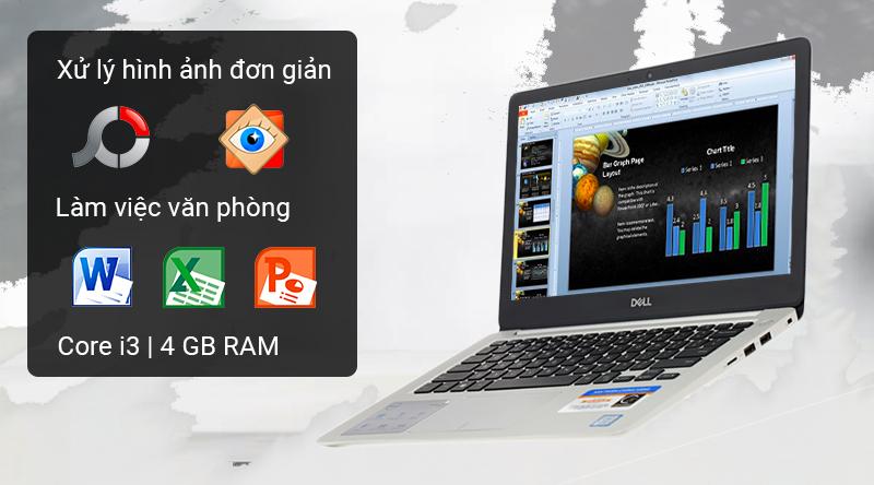 Laptop Dell Inspiron 5370  trang bị chip Intel Core i3 và RAM 4 GB