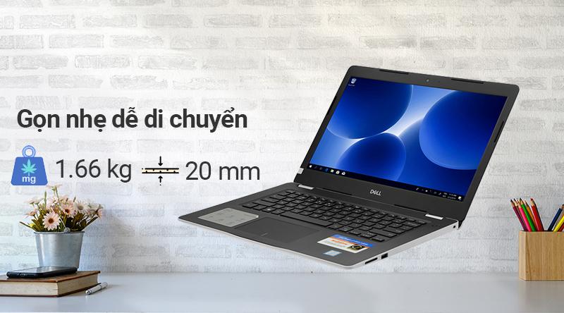 Laptop Dell Inspiron 3480 N4I5107W thiết kế gọn nhẹ dể di chuyển