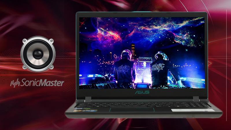 Laptop ASUS Rog F560UD (BQ400T) chất âm sẽ được hòa hợp, trở nên hoặc sống động hoặc trong như pha lê
