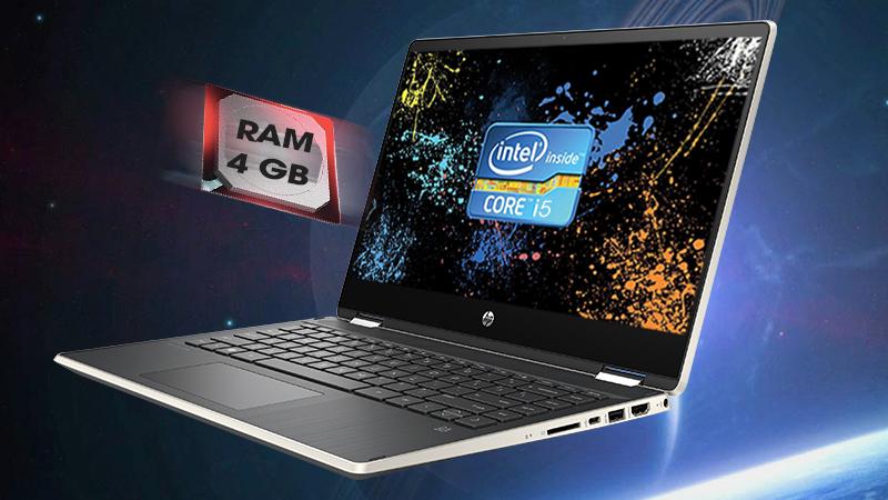 Laptop HP Pavilion x360 được trang bị bộ vi xử lí Intel Core i5 thế hệ thứ 8