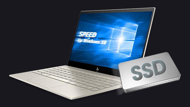 Laptop HP Envy 13 aq0025TU (6ZF33PA) có ổ cứng SSD, dung lượng 128 GB