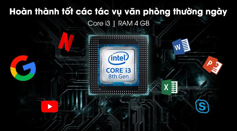 Laptop Dell Inspiron 5584 sử dụng chip Intel Core i3 thế hệ thứ 8