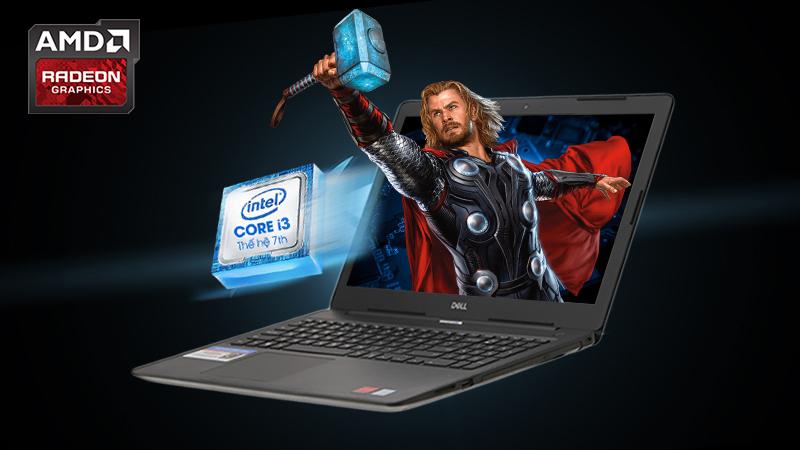 Laptop Dell Inspiron 3581 giải quyết tốt các công việc văn phòng, chạy mượt các ứng dụng cơ bản, lướt web...