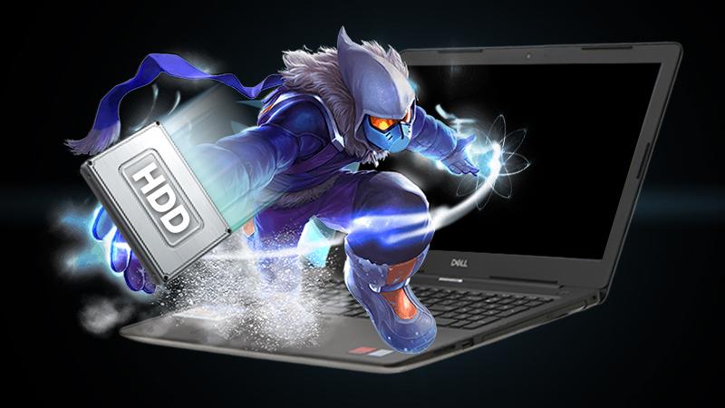 Laptop Dell Inspiron 3581 trang bị ổ cứng HDD 1 TB