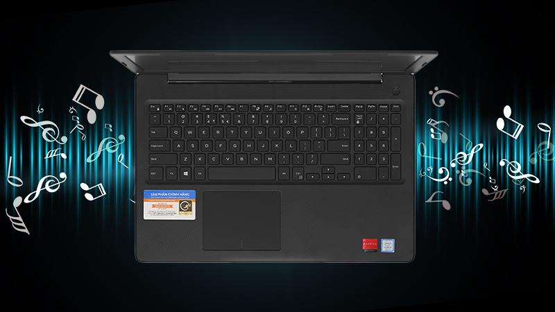 Laptop Dell Inspiron 3581 đem đến âm thanh to rõ, sống động