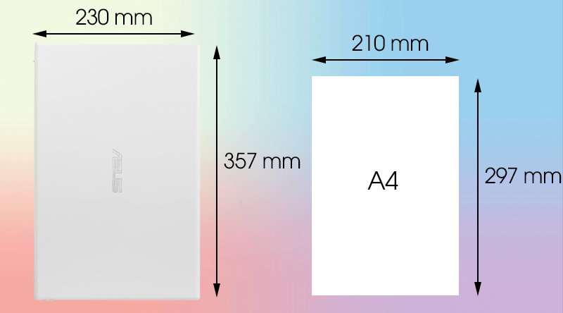 Kích thước Asus Vivobook A512F