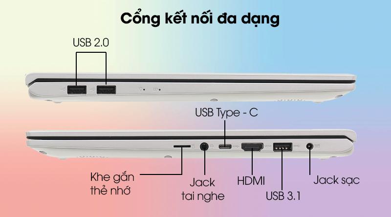 Cổng kết nối Asus Vivobook A512F
