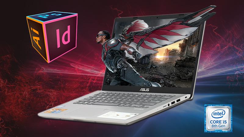 Laptop Asus Vivobook X409F đáp ứng tốt nhu cầu văn phòng, đồ họa và giải trí