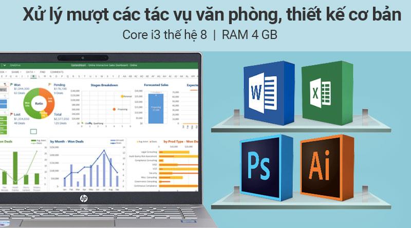 Cấu hình laptop HP Pavilon 14 ce2035tu i3 (6YZ18PA)