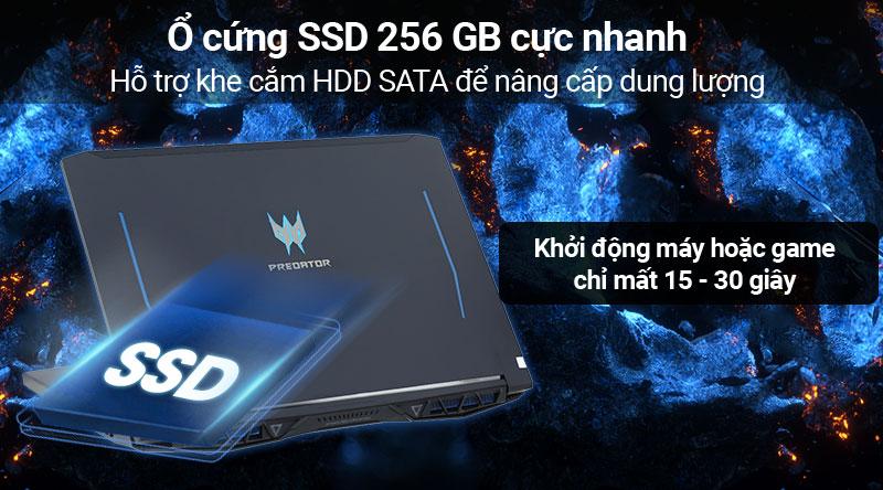 Laptop Acer Predator Helios 300 PH315 52 78HH i7/9750H/8GB/256GB/ RTX2060/Win10 (NH.Q53SV.008) có ổ cứng SSD