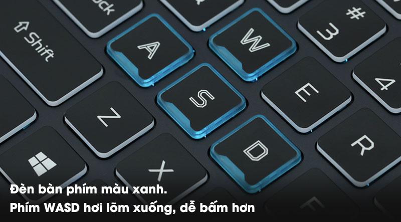 Laptop Acer Predator Helios 300 PH315 (NH.Q53SV.008) có đèn bàn phím nổi bật