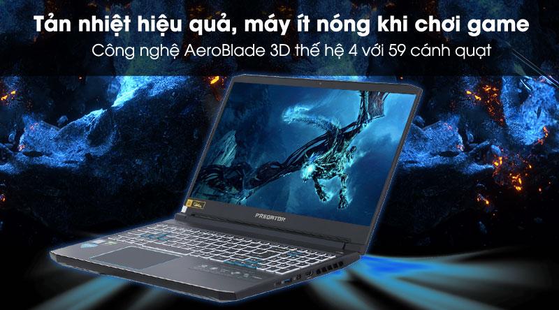 Laptop Acer Predator Helios 300 PH315 (NH.Q53SV.008) có công nghệ tản nhiệt hiệu quả