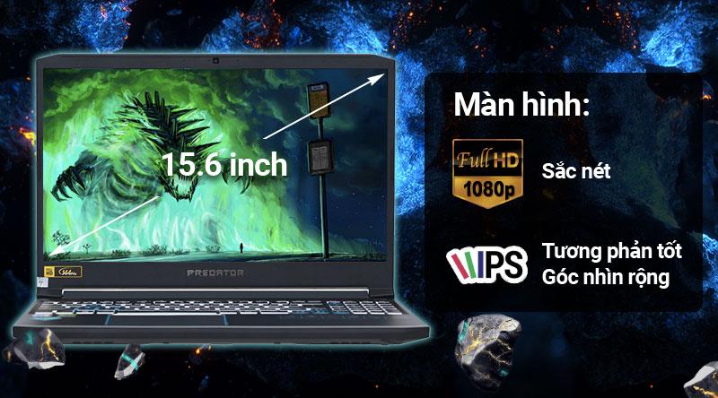 Laptop Acer Predator Helios 300 PH315 52 78HH i7/9750H/8GB/256GB/ RTX2060/Win10 (NH.Q53SV.008) có màn hình sắc nét