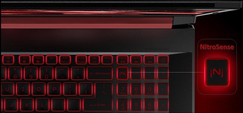 NitroSense trên laptop Acer Nitro AN515 54 52EZ