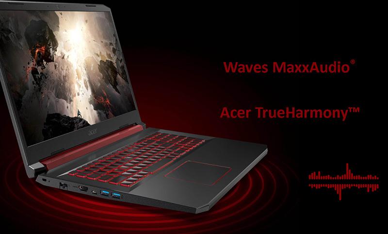 âm thanh hiện đại trên laptop Acer Nitro AN515 54 52EZ