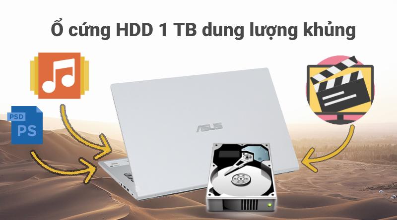Laptop ASUS VivoBook X509FJ i5 (EJ132T) có dung lượng ổ cứng khủng